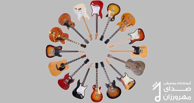 انواع گیتار